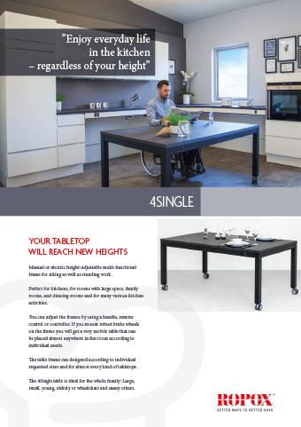 Data leaflet Ropox 4Single Tables