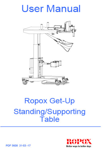 Ropox Get-Up Standing/Supporting Table