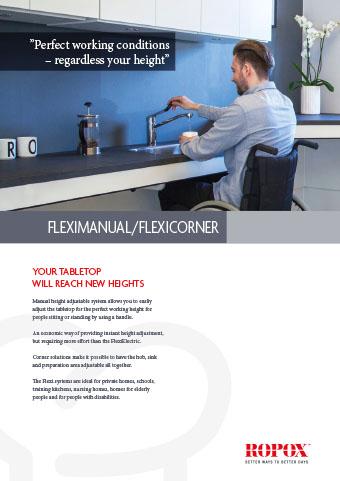 Data leaflet Ropox Kitchen Worktops FlexiManual/FlexiCorner