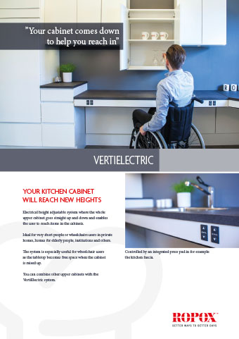 Data leaflet Kitchen Upper Cabinets VertiElectric