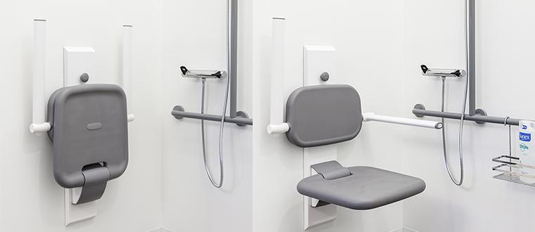 Shower seat shower / Bruseklapsæde example