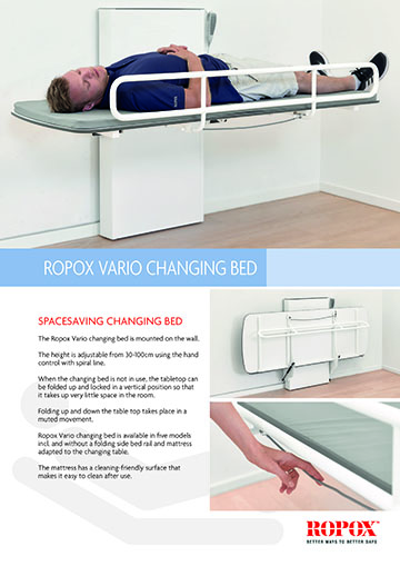 Data leaflet Ropox Vario Changing Bed