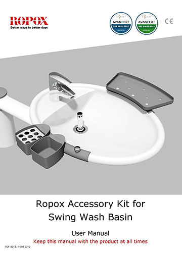 Ropox user & mounting manual - Swing Washbasin and Dock-in