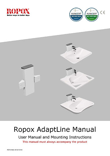 Ropox user manual and mounting instruction - AdaptLine Wasbasin
