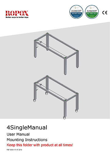 Ropox user & mounting manual - 4SingleManual