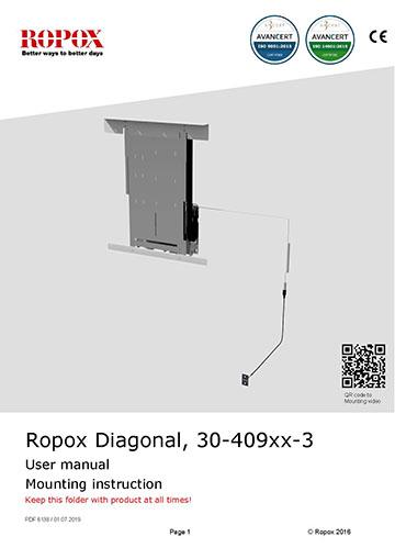 Ropox user & mounting manual - Diagonal