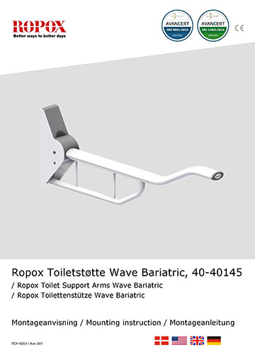 Ropox Installation manual for toilet support arms, wave kg