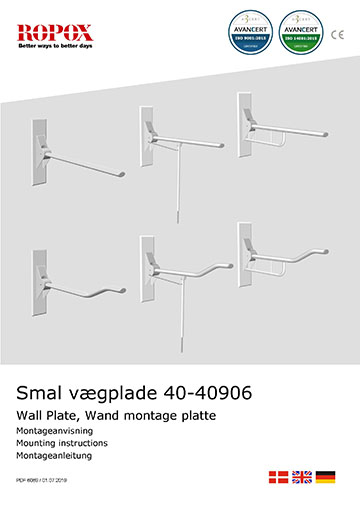 Toilet Support Arms Wall Plate