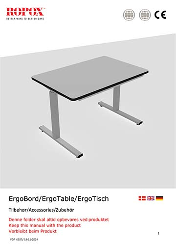 Ropox manual - ErgoTable Accessories