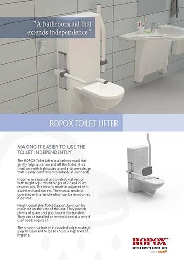 Data leaflet Ropox Toilet Løfter
