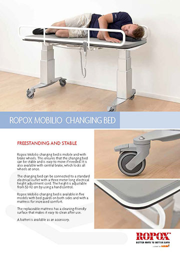 Data leaflet Ropox Mobilio Changing Bed
