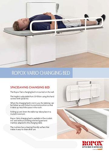Data leaflet Ropox Vario Changing Bed