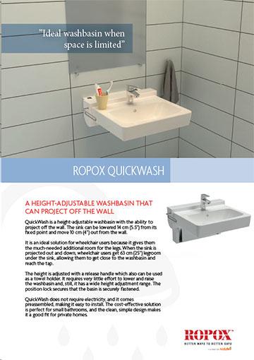 Data leaflet Ropox QuickWash